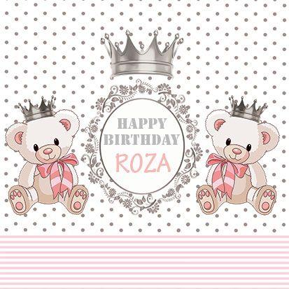 بنر تولد کودک دخترانه خرس تدی 52