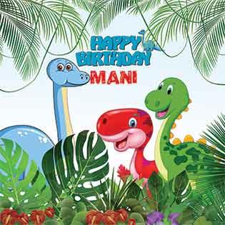 طرح بنر تولد کودک پسرانه دایناسور86