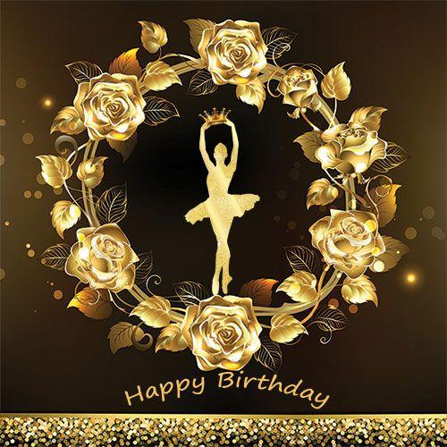 بنر تولد بزرگسال دخترانه و پسرانه حلقه گل رزطلایی وبا لرین45