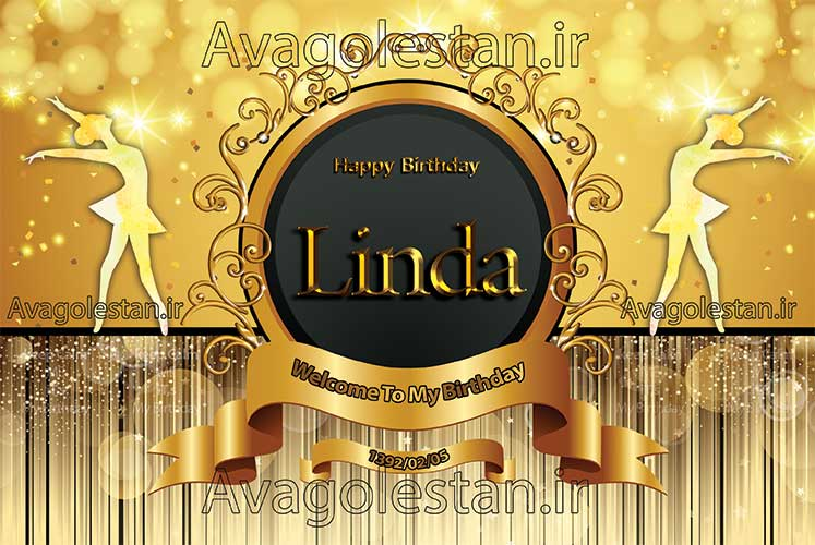 بنر تولد لیندا طلایی 34