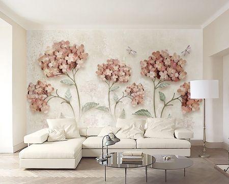طرح کاغذ دیواری  گل 003f