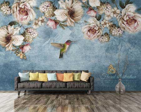 طرح کاغذ دیواری  گلهای رز 004f