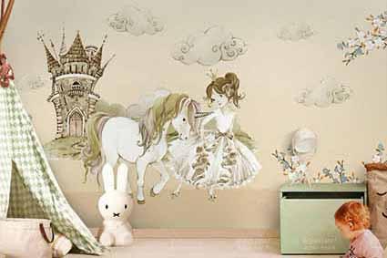 طرح لایه باز کاغذ دیواری اتاق کودک wk-003