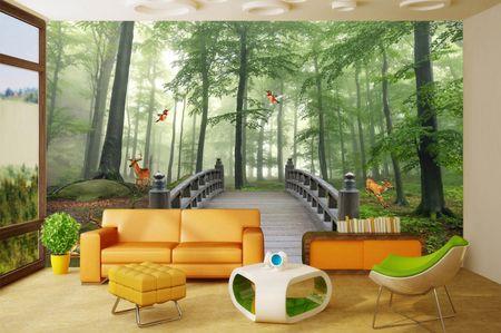 طرح کاغذ دیواری طرح  جنگل003