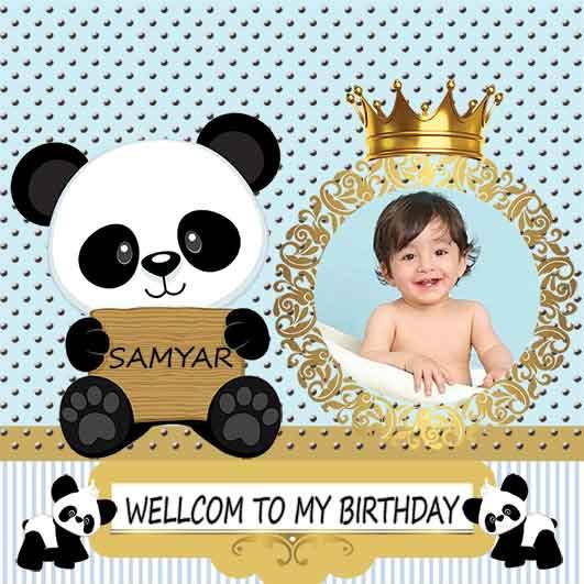 طرح بنر تولد کودک پسرانه خرس پاندا 78