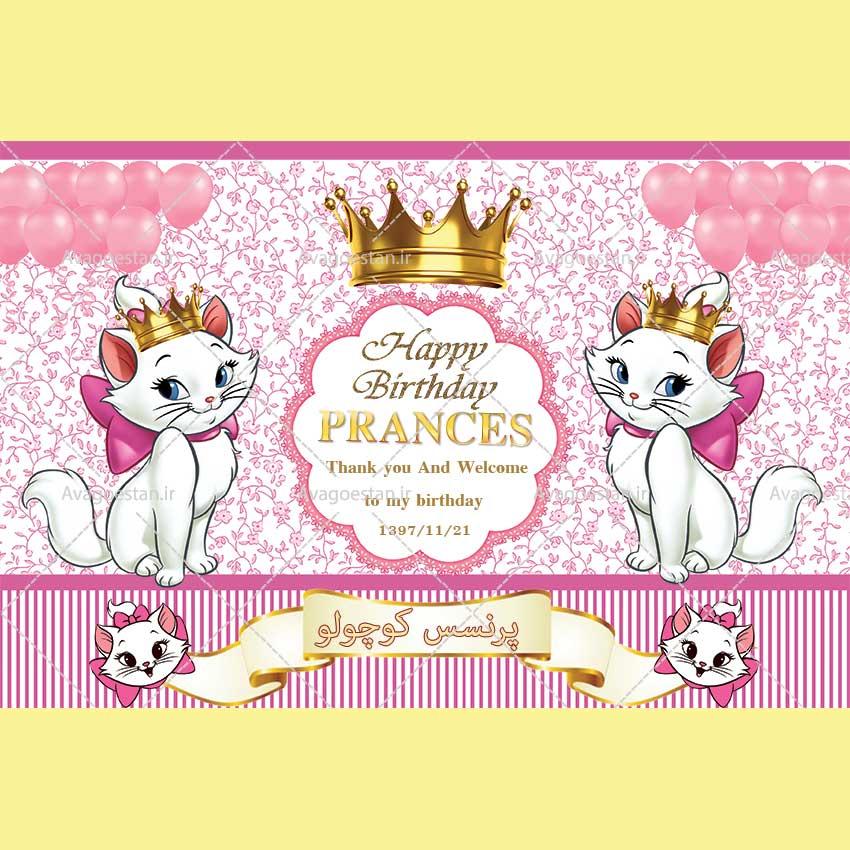 طرح تولد گربه اشرافی دخترانه 43